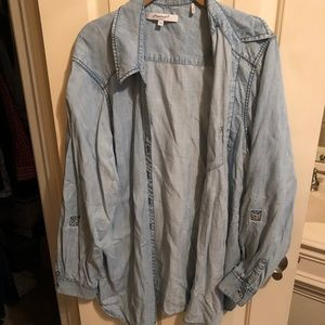 Foxcroft NYC Chambray Button Down Shirt 18W
